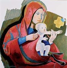 arcabas - Recherche Google Religious Icons, Religious Art, Statues, Images Of Mary, Immaculate Conception, Jesus Art, David Hockney, Madonna And Child, Blessed Virgin Mary