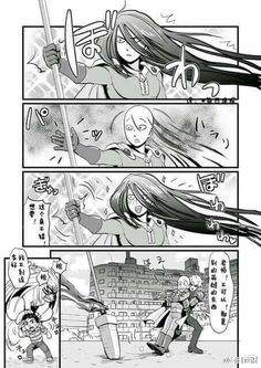 The Crossover Manga/Anime, Satama meet The beast spear, One punch man meet Ushio to tora