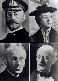 4 of the 8 different characters Sir Alec Guiness played in Kind Hearts and Coronets, not one of them is alike in any aspect.