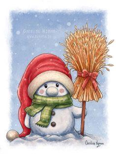 A little snowman by Caroline Nyman