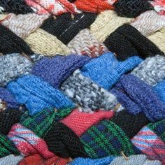 Make a braided t-shirt rug like this one using old t-shirts you have lying around the house.