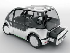 e rx is a battery-powered electric vehicle concept. It mainly features an optional range extender that can be rented at gas stations or car dealerships. Essentially this kit contains all components inside one compact box: combustion engine, exhaust system Electric Car Concept, Electric Cars, Electric Vehicle, Microcar, E Mobility, Power Cars, Futuristic Cars, Small Cars, Bike Design