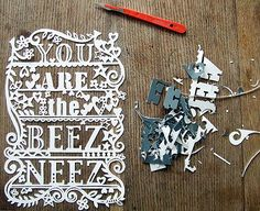 paper cut type. AWESOME <3