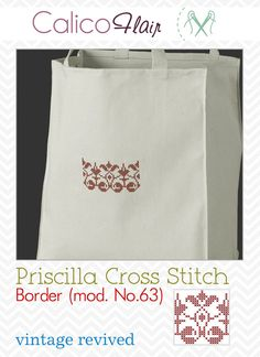 Priscilla Cross Stitch Floral Border 63