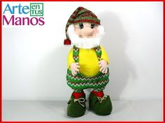 Christmas Gnome Step by Step in Cloth lency Christmas Gnome, Christmas Ornaments, Manta Polar, Scandinavian Gnomes, Santa, Dolls, Holiday Decor, Youtube, Baby Dolls