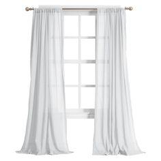 Harvey Cotton Gauze Texture Semi-Sheer Curtain Panel White - No. White Sheer Curtains, Sheer Curtain Panels, Cotton Curtains, Curtain Rods, Panel Curtains, Target Curtains, Window Valances, Patterned Curtains, Window Panels