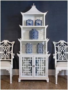 a design snack by Linda Pakravan: Pagoda Headboard: Tall, Exotic, Dramatic Hollywood Regency, Chinoiserie, Painted Furniture, Furniture Design, Palm Beach Decor, Devine Design, Bungalow 5, Chinese Furniture, White Shelves