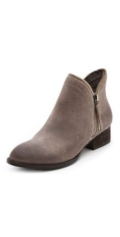 Jeffrey Campbell Crockett Zipper Trim Booties |SHOPBOP | Save up to 30% Use Code BIGEVENT14