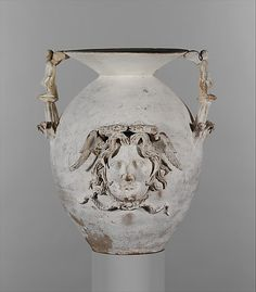 Terracotta two-handled vase Period: Early Hellenistic Date: late 4th–early 3rd century B.C. Culture: Greek, South Italian, Apulian, Canosan