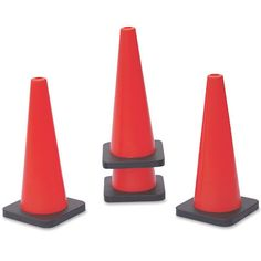 Vinex 18 Inch Cones: high hat shaped cones made of plastic with hole on the top to hold 25 mm dia poles.