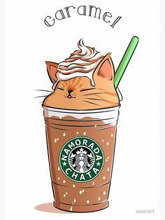 Caramel not my favourite but I'm a ginger cat lover. ❤️😻 Caramel not my favourite but I'm a ginger cat lover. Cute Food Drawings, Cute Animal Drawings Kawaii, Cute Cartoon Drawings, Cute Cat Drawing, Kawaii Art, Disney Drawings, Cat Wallpaper, Kawaii Wallpaper, Cute Food Wallpaper