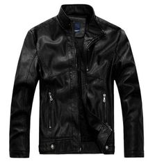NEW top quality Leather Jacket Men jaqueta de couro masculina mens leather jackets Men's Coat Motorcycle Jacket dropshipping