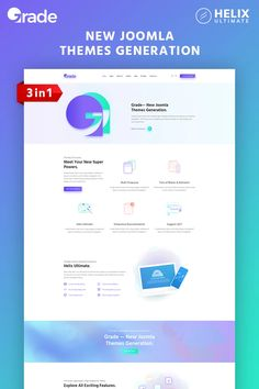 For any developer, it is a great idea to have a multipurpose website template. But we have something better and you will like it. Grade is a new Joomla theme Security Logo, Online Security, Joomla Themes, Sports Website, Web Design Software, Joomla Templates, All Themes, Change Image, Ui Elements