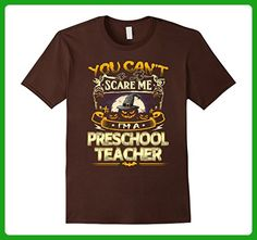 Mens You Cant Scare Me Im A Preschool Teacher Halloween T-Shirt Large Brown - Careers professions shirts (*Amazon Partner-Link)