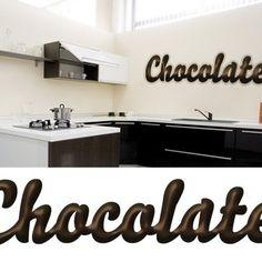 Chocolate Sticker. Kitchen Stickers, Bathroom Hooks, Chocolate, Schokolade, Chocolates, Brown