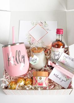 The newest edition of our Bridesmaid Proposal Boxes are here! The spa edition is for anyone who loves a little bit of pampering. Included in each box is a stainless steel wine tumbler with matching mini straw, a Bride Tribe mini wine label, candy, a set of cute hair ties and your choice of spa goodies. Your bridesmaids will love this gift! #bridesmaidbox #bridesmaidgift #bridesmaidproposal #willyoubemybridesmaid