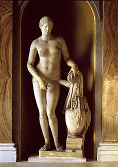 Aphrodite of Knidos, dating between 360 and 330 B.C., is considered one of the greatest accomplishments of the sculptor Praxiteles.