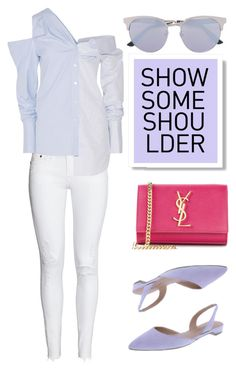 """""""Show some Shoulder"""" by keepfashion92 ❤ liked on Polyvore featuring Monse, Yves Saint Laurent and Gucci"""