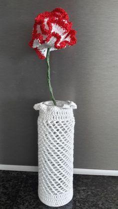 Gehaakte Anjer ~ 1 stuk van Titfer Designs op DaWanda.com