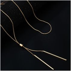 7ab57a4215c4c Fashion Long Necklaces For Women Gold Tassel Pendant Sweater Necklace Kolye  Metal Link Chain Fashion Jewelry