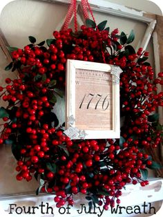 declaration of independence wreath