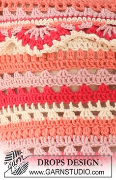 DROPS Pattern Library: Crochet patterns.  FREE PATTERNS 6/14.