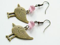 Ohrhänger Vogel von Happy-about- Pearls auf DaWanda.com