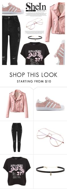 """""""SheIn - Rose Glasses"""" by fashion-bea-16 ❤ liked on Polyvore featuring adidas Originals, River Island, Carbon & Hyde and contest"""