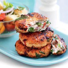 Italian-style chicken patties with torn bread salad | Australian Healthy Food Guide