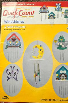 Plastic Canvas Quick Count  Wind Chimes Pattern Book by misseileen