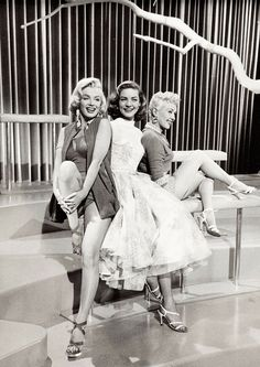 Marilyn Monroe, Lauren Bacall and Betty Grable