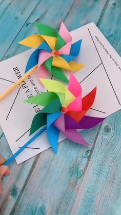 Community Helpers Preschool Discover Creative DIY Crafts for Kids-Paper Toy Windmill-Easy DIY Tutorial Fun piece and simple to do at home for kids. Diy Crafts Hacks, Diy Crafts For Gifts, Diy Arts And Crafts, Creative Crafts, Diy Projects, Project Ideas, Craft Ideas, Summer Crafts, Handmade Crafts