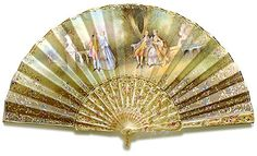 Antique Hand Fan Styles | ... antique fans the ribbing of this beautiful romantic style fan is made