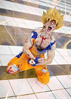 Goku cosplay - The power of rage by Alexcloudsquall on DeviantArt