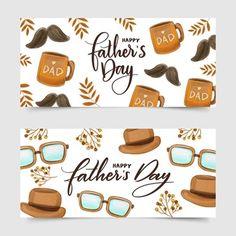 Conjunto de ilustración de vacaciones del día del padre. cita de celebración de letras dibujadas a mano con bigote. | Vector Premium Happy Fathers Day Cards, Fathers Day Banner, Fathers Day Poster, Fathers Day Wallpapers, Superhero Symbols, Father's Day Celebration, Design Plano, Banners, Family Theme