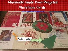 2nd Grade Pad: Christmas Card Recycling - 2 EASY Projects