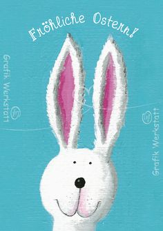 Postcrossing - Easter postcard, sent by Postcrosser in Austria. Easter Art, Hoppy Easter, Easter Ideas, Easter Bunny Pictures, Watercolor Wedding Invitations, Chalkboard Art, E Cards, Folded Cards, Christmas Ornaments