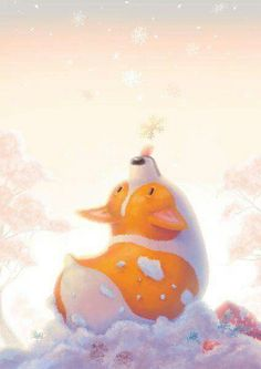 Corgi and Snowflakes Art Print by Woon Bing - X-Small Cute Corgi, Corgi Dog, Corgi Drawing, Snowflakes Art, Corgi Pictures, Corgi Pembroke, Dog Illustration, Animal Illustrations, Canvas Prints