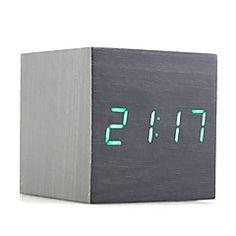 reloj de escritorio de madera decorativos negro