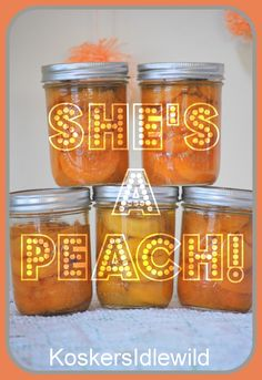 Kosker's Idlewild: She's a peach :: party recap with food ideas Canned peaches as party favors!
