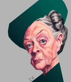 """Amazing actress Maggie Smith as """"Violet Crawley"""" aka """"Countess of Grantham"""" in the show """"Downton Abbey""""."""