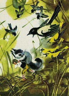 """В.Каневский илл.""""Приключения Нильса с дикими гусями"""""""