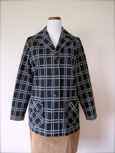 Vintage Jacket / 60's Checked jacket / by KikuVintageBoutique, $24.00