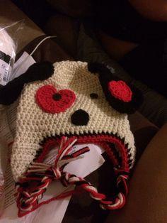 Valentine doggy hat
