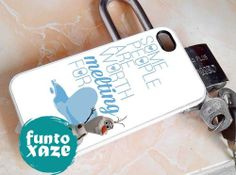Olaf melting quote   iPhone 4/4s/5/5c/5s Case  by funtoxaze, $13.55