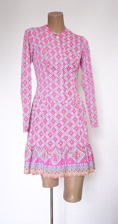 Vintage 1960s 1970s Mini Dress Minidress Mod by VintageZipper, $35.00. I LOVE THIS DRESS!