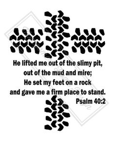 He Lifted Me Out Of The Slimy Pit  Bible by MontgomeryHomeDesign