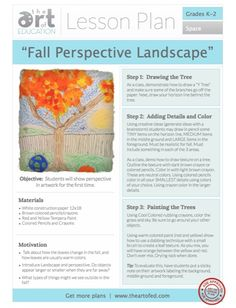 Click to Download Free Lesson Plan - Fall Perspective Landscape