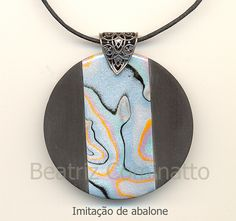 Imitação de abalone na cerâmica plástica (polymer clay)   Flickr - Photo Sharing!