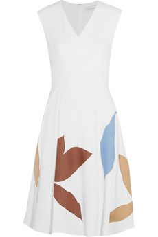 Jonathan Saunders Leigh appliquéd crepe dress | NET-A-PORTER